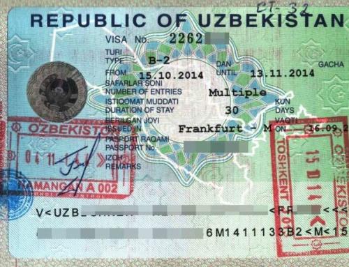مدارک لازم برای اخذ ویزای ازبکستان