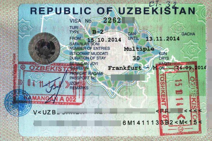 مدارک اخذ ویزای ازبکستان